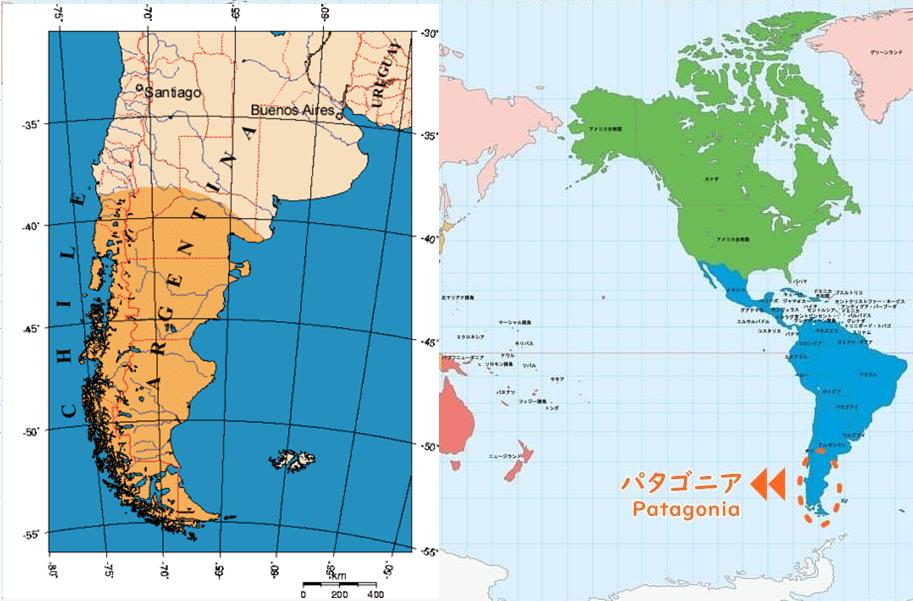 パタゴニア地図写真